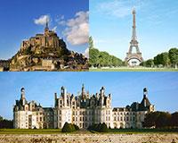 パリ、モンサンミッシェル、ロワール古城