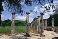オリンピアの古代遺跡