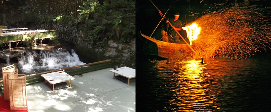 優雅な大人の舟遊び「嵐山鵜飼」と「五山送り火」の『大文字』観賞 2日間