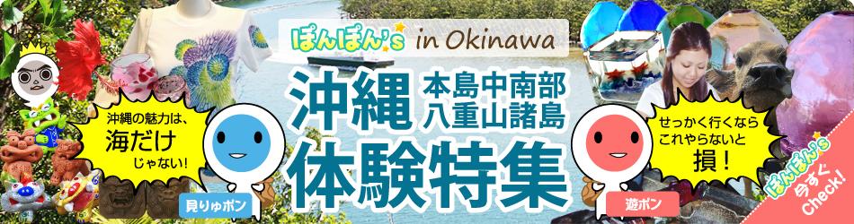 沖縄観光 本島中南部 八重山諸島 体験特集