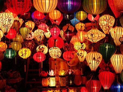 【成田発】満月の夜に行われる幽玄な祭り ベトナム・ホイアン ランタン祭り4日