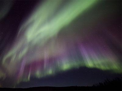 【絶景 Pinたび アラスカ】フェアバンクス オーロラ