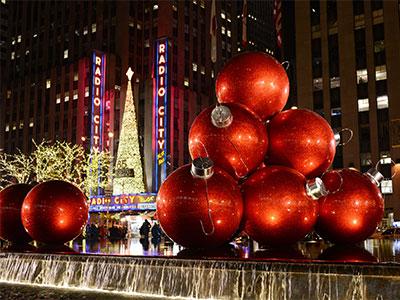 【成田発】ニューヨークのクリスマスイルミネーションを満喫!