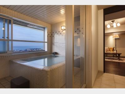 客室一例/客室付展望風呂