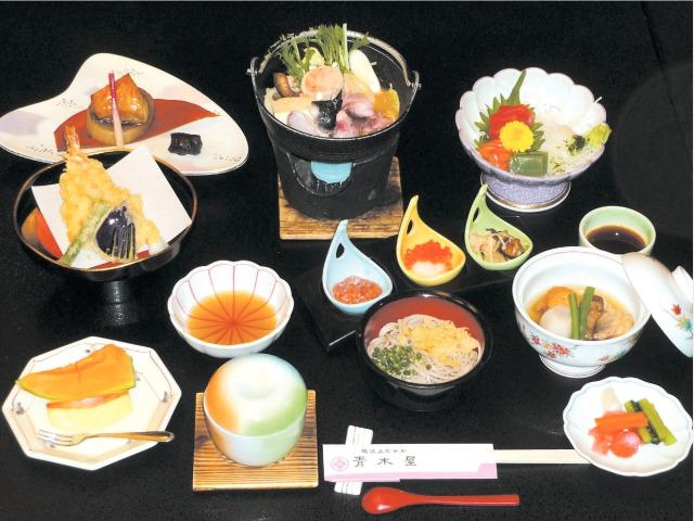 14秋 宿コレ 夕食一例(つくばね御膳)