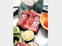 夕食イメージ(とちぎ和牛の炭火焼)