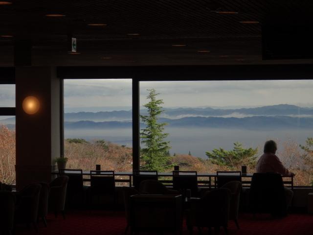 標高850Mからの景色では時には雲海も...