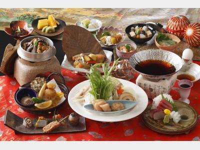 夕食一例(宴会メニュー)
