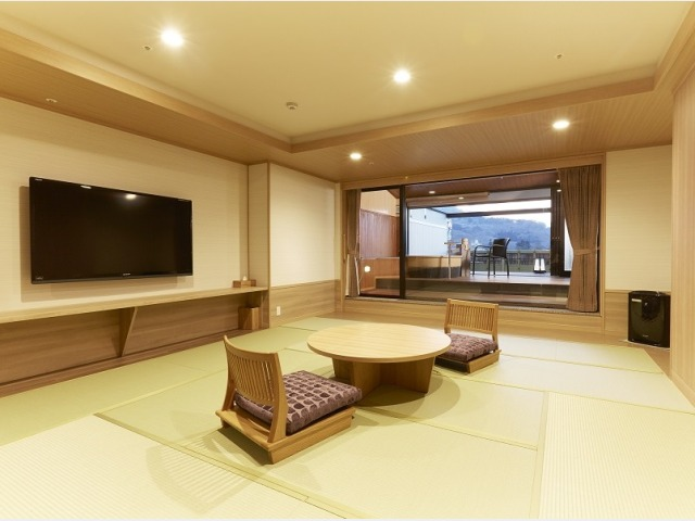 露天風呂付客室「山水亭/和室」の一例