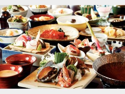 夕食イメージ(メインが海鮮の売位の一例)