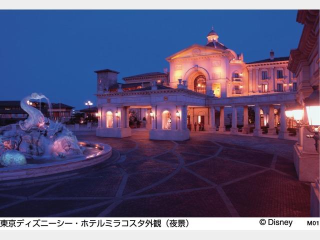 東京ディズニーシー・ホテルミラコスタ外観(夜景)