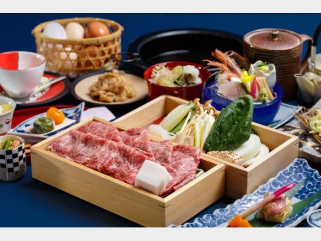 夕食(和牛すき焼き)