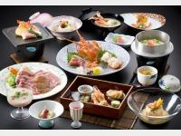 夕食一例(旬菜四季の彩)