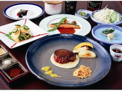 夕食一例(鉄板焼)