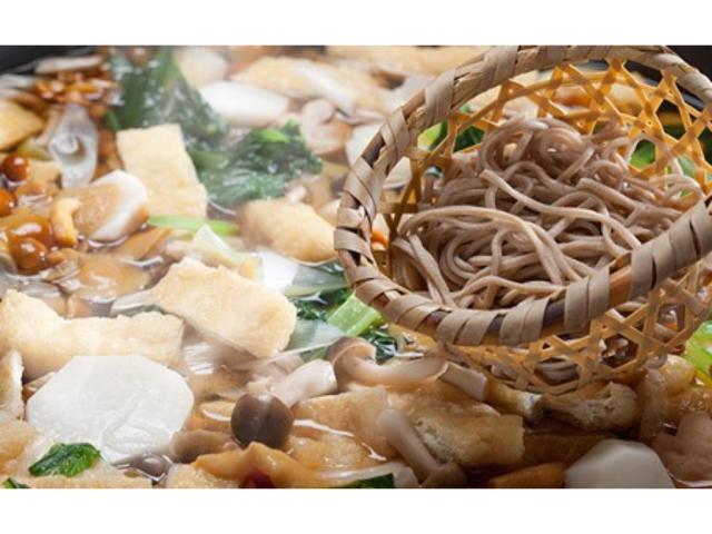 (朝食)投汁(とうじ)そばは、信州松本の奈川が発祥と言われる郷土料理