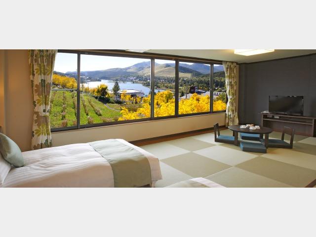 池の平ホテル最上階に畳で寛ぐ和風リゾートのお部屋(5?6名定員客室)