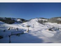 ホテル前スキー場