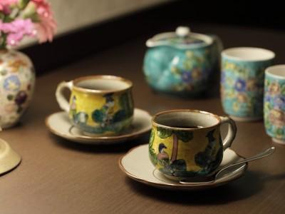 九谷焼コーヒーカップ