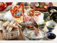 【本館】加能ガニ懐石料理の一例
