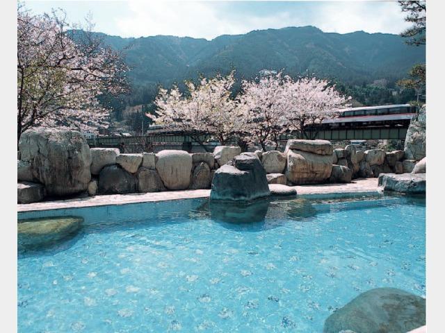 下呂温泉屈指の大野天風呂