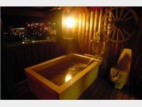 客室露天風呂「星のきらめき」