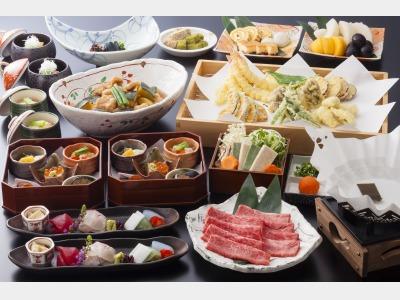 夕食:高山遊膳(飛騨牛しゃぶしゃぶ)