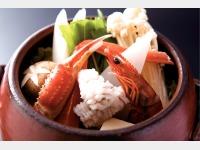 夕食(飛騨牛いろり会席海鮮鍋)