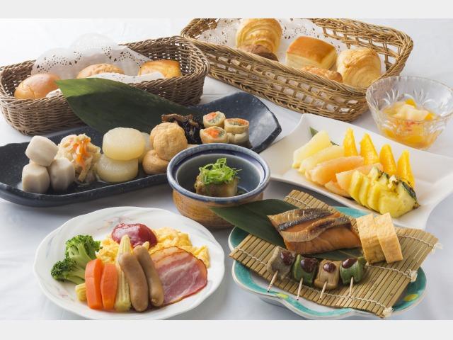 朝食ブッフェ一例(季節によりメニューの変動がございます)
