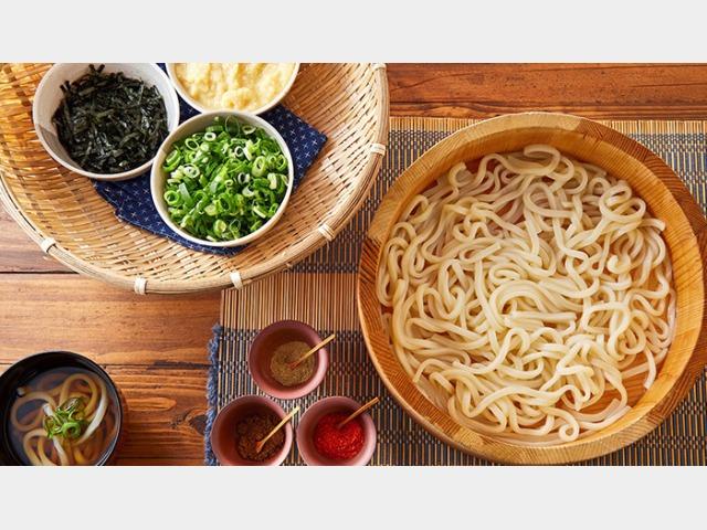 京のうどん(朝食)