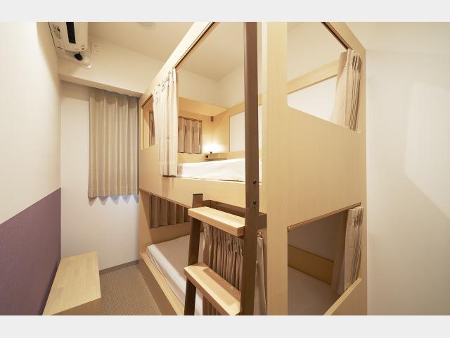 客室一例 二段ベッド