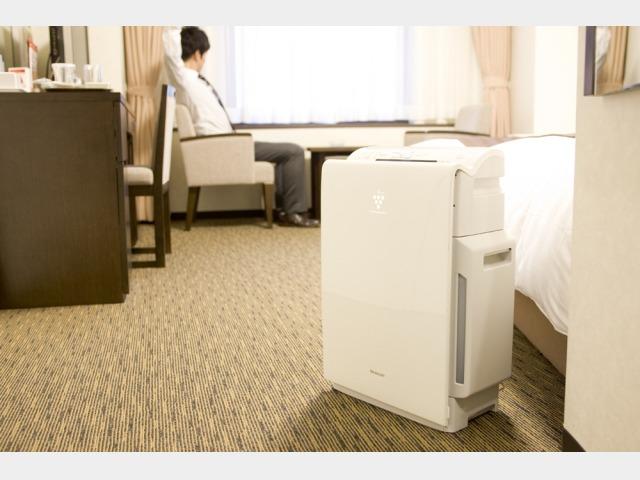 スーペリアルームに設置の「加湿機能付空気清浄機」