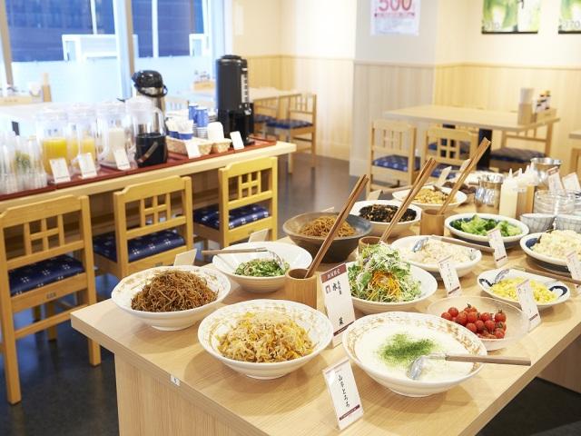 【朝食】副菜豊富な和食メインの健康朝食ビュッフェ