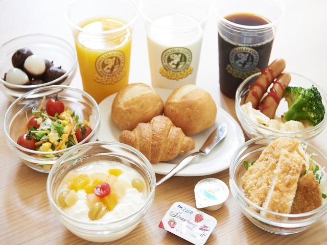 【朝食】洋食メニューも充実のラインナップ