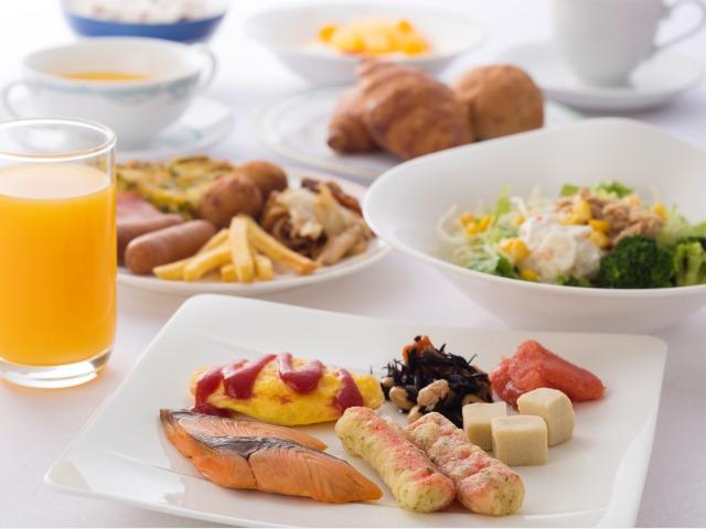 朝食バイキング 盛り付け一例