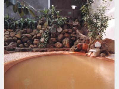 古茂江温泉:当館の敷地内に源泉がある四州園独自の温泉です。赤湯の温泉で心の芯から温まります。
