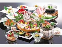 夕食一例 基本プラン 鯛の姿造り(4人前)
