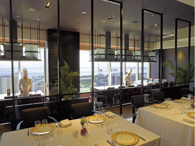 21Fレストラン「Kobe Grill」鉄板焼
