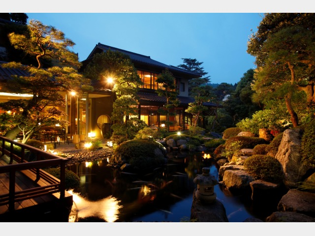 本庭園 夕景