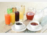 朝食ドリンクバー一例