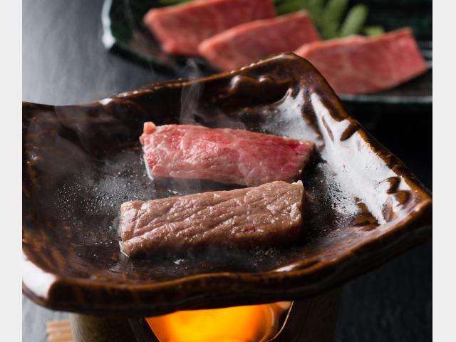広島牛陶板焼き