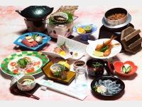夕食一例(萩の恵み会席)