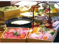 夕食/温泉湯豆腐+佐賀牛しゃぶしゃぶ(2名様盛イメージ)