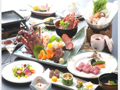 夕食/佐賀牛・イセエビ付贅沢会席イメージ