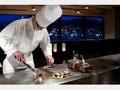 レストラン「竹彩」鉄板焼 調理イメージ
