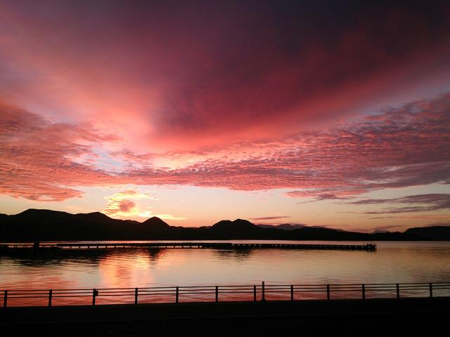早朝には幻想的な風景を見れることも