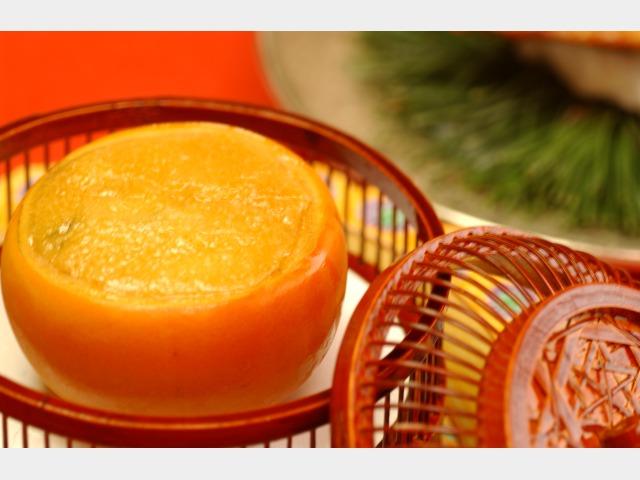 季節のお料理「柿釜ふろふき焼き」