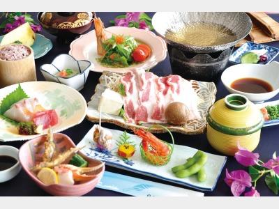 夕食/鹿児島黒豚しゃぶしゃぶ会席イメージ