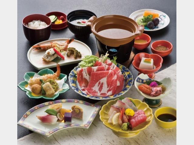 夕食/黒豚しゃぶ鍋付 薩摩郷土会席イメージ