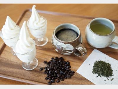 朝食|濃厚なソフトクリームと オリジナルコーヒー