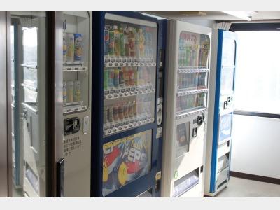 4階ドリンク・ビール自販機 電子レンジ ポット。7階ドリンク・ビール自販機 製氷機 電子レンジ ポット。